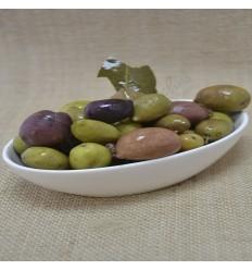 Cracked purple olives 220 g