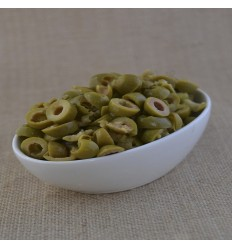 Sliced ​​green olives