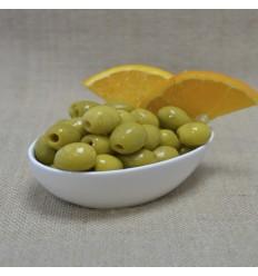 Pitted olive orange flavor