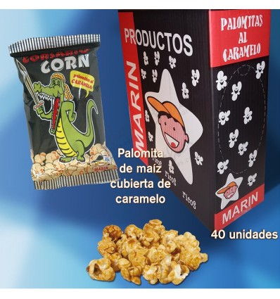 Caramel popcorn 40 units of 25 g