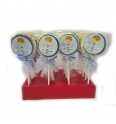 Choco cloud lollipop 1st communion boy 25 units