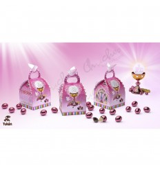 Pink choco communion box