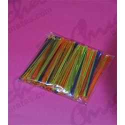 Multi-colored plastic skewer 8 cm 500 units
