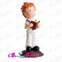 Figure child communion bible in hand