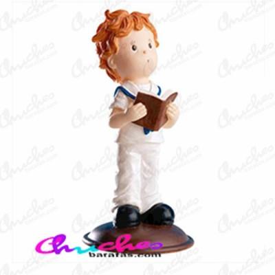 Figura niño comunión biblia en mano