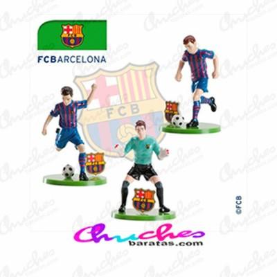 Kit jugadores futbolista + porterias Barcelona FC