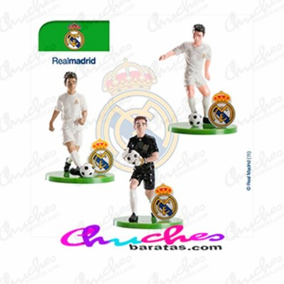 Kit jugadores futbolista + porterias Real Madrid