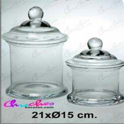 Glass candy box 21 x 15 cm