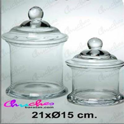Bombonera cristal 21 x 15 cm