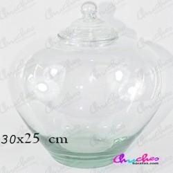 Bombonera cristal corazón 30 x 20 cm