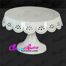 White metal plate