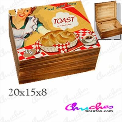 Caja madera 20x 15 x 8 cm