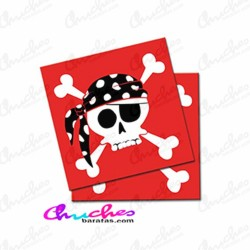 Pirate napkins 20 units
