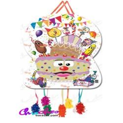 Piñata silhouette sweet party 70x40 cm