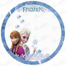 Oblea frozen reina del hielo
