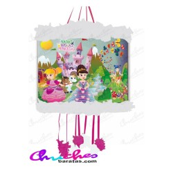 Piñata vignette fairies ,witches & princesses 20 x31 x 40 cm