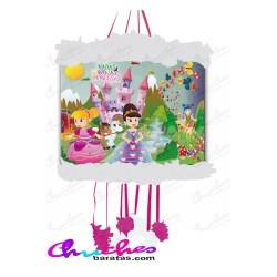 Piñata viñeta hadas ,brujas y princesas 20x31 cm