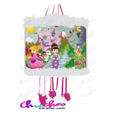 Piñata silueta hadas ,brujas y princesas 70 x 40 cm