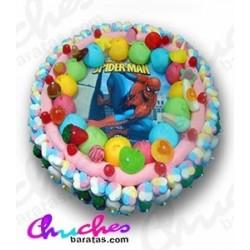 Spiderman wafer cake 28 x 8 cm