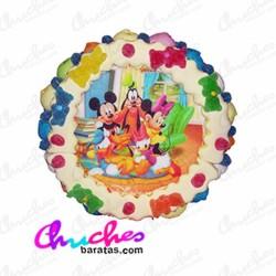 Tarta oblea Mikie y sus amigos 28 x 8 cm