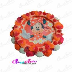 Minie wafer cake polka dots 28 x 8 cm