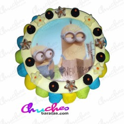 Minions wafer cake 28 x 8 cm