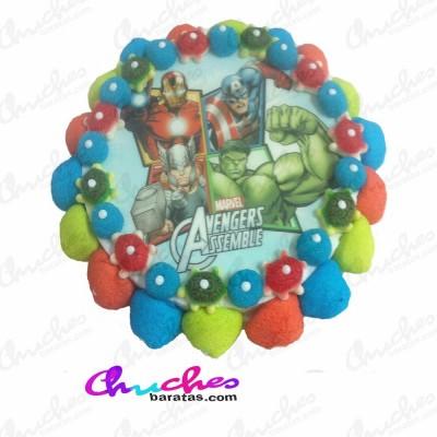 Tarta oblea Vengadores 28 x 8 cm