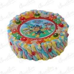 Canine paw wafer cake 28 x 8 cm