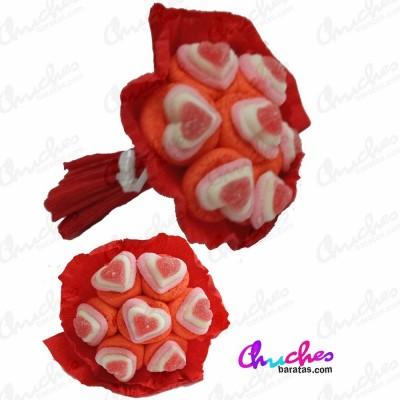 Ramos corazón 7 flores