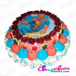 Cake 2 floors spiderman