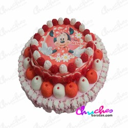 Cake 2 floors Minie polka dots