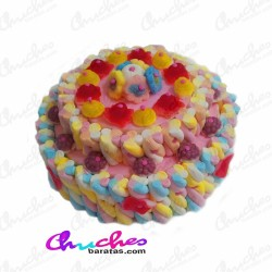 Cake 2 floors multicolored 30 cm