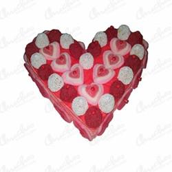 Tarta corazón love  gominolas