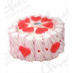 Fluted cake with hearts
