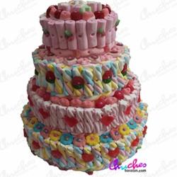 Mega tarta 4 pisos multicolor
