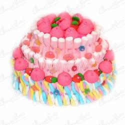 Multicolor 3-floor cake