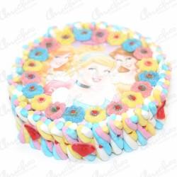 Tarta oblea princesas disney 28 x 8 cm