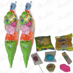 Stuffed pig pepa cone bag sweets 20 units