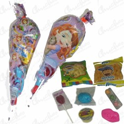 Princess cone bag Sofia stuffed with sweets 20 units
