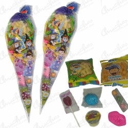 Bag cone fairies, princesses and witches filled with chuehes 20 units