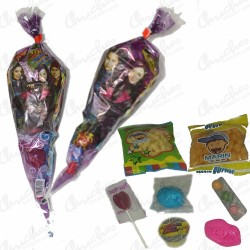Descendant cone bag filled with sweets 20 units