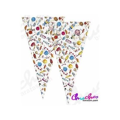 Bolsa cono gigante sweet party 60 cm x 30 cm 50 unidades