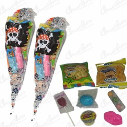 Pirate cone bag filled with sweets 20 units