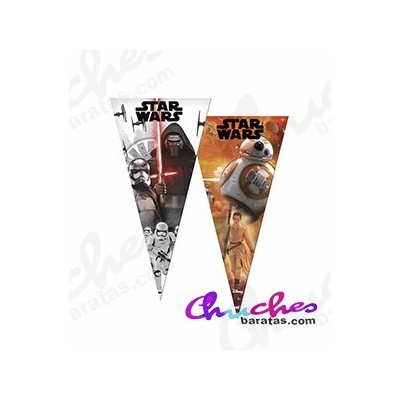 Bolsa cono star wars 40 cm x 20 cm 50 unidades