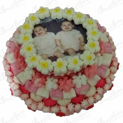 Custom 3-tier wafer cake